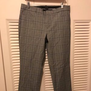 NWTs Banana Republic Sloan Plaid Pants Size 10 L